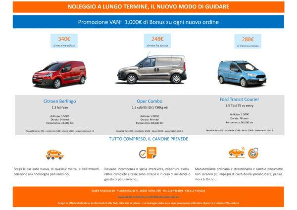 Noleggio a Lungo Termine: il nuovo modo di guidare - Offerta mezzi VAN/N1