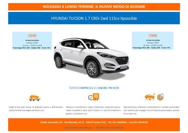 Noleggio a lungo termine auto: promozione Hyunday Tucson