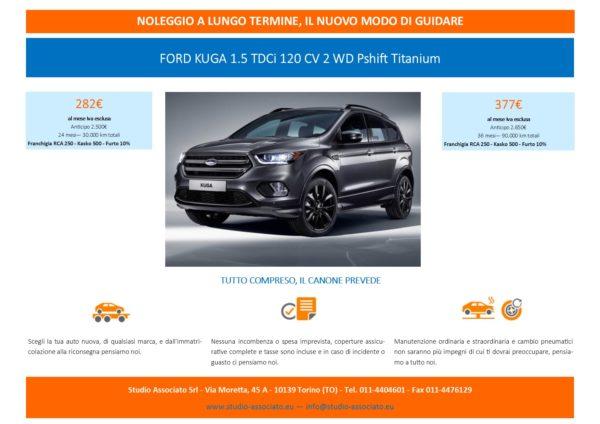 Noleggio a lungo termine: promozione Ford Kuga 1.5 TDCi PShift Titanium